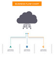 cloud computing data hosting network business vector image vector image