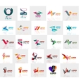 Collection of colorful abstract origami logos vector image vector image