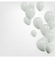 colored balloons vector image vector image