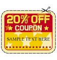 Coupon twelve percent discount vector image