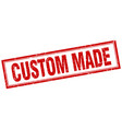 custom made red square grunge stamp on white vector image vector image