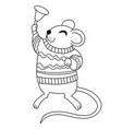 cute cartoon style mouse with a bell vector image vector image