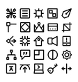 Design and Development Icons 10 vector image vector image