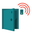 door sensor flat icon security and alarm vector image vector image