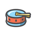 drum with chopsticks icon cartoon vector image