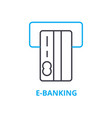 e-banking concept outline icon linear sign vector image vector image