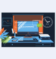 e-learning concept for web page banner vector image vector image