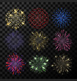 explosion firework bright show sparkle vector image