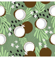 fruit seamless pattern coconut vector image vector image