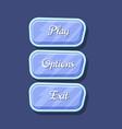 glossy colorful computer game menu interface set vector image