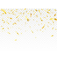 gold shiny confetti wedding celebration or vector image vector image