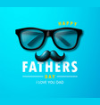happy father s day banner with glasses vector image vector image