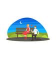 happy man proposing marriage to beautiful woman vector image vector image