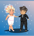 happy wedding couple vector image vector image