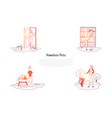 homeless pets - animals in cages vector image