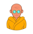 Indian monk in sunglasses icon cartoon style vector image vector image