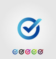 letter o check verified modern logo design icon vector image