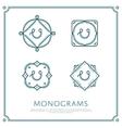 Letter U Monogram vector image vector image