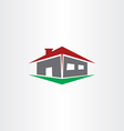 logo house real estate icon vector image