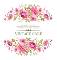 luxurious color rose card vector image vector image