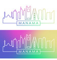 manama skyline colorful linear style editable vector image