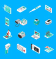 medical gadgets isometric icons vector image vector image
