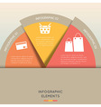 Modern infographic elements semicircle vector image