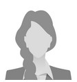 person gray photo placeholder woman vector image vector image