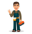 professional plumber in uniform vector image
