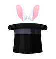 rabbit in a hat icon illusionist art vector image