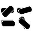 raffle ticket symbols set of 4 version vector image vector image