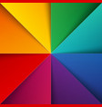 Rainbow colorful folded paper triangles background vector image vector image