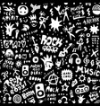 rock music party - seamless pattern graphic vector image vector image