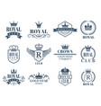 royal and luxury badges set vector image vector image
