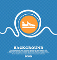 Running shoe icon sign Blue and white abstract vector image vector image