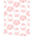 seamless simple pattern with red easter egg vector image vector image
