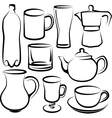 set of drink icons vector image