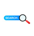set search bar element design set search boxes vector image vector image