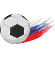 soccer ball on the streaks in the form of the vector image vector image