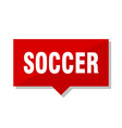 soccer red tag vector image vector image