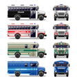 special bus icons vector image vector image