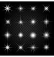 stars bursts with sparkles and glowing light vector image vector image