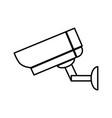 surveillance camera icon vector image vector image