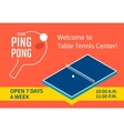 Table tennis banner vector image vector image