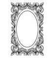 vintage mirror oval frame french luxury vector image vector image