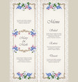 wedding decorative frame vector image