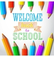Welcome back to school hand-drawn greeting with vector image vector image
