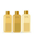 white cosmetic bottles in flat style tube vector image vector image