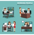 Working People Infographic Elements vector image vector image