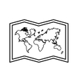 world map paper geography icon vector image vector image